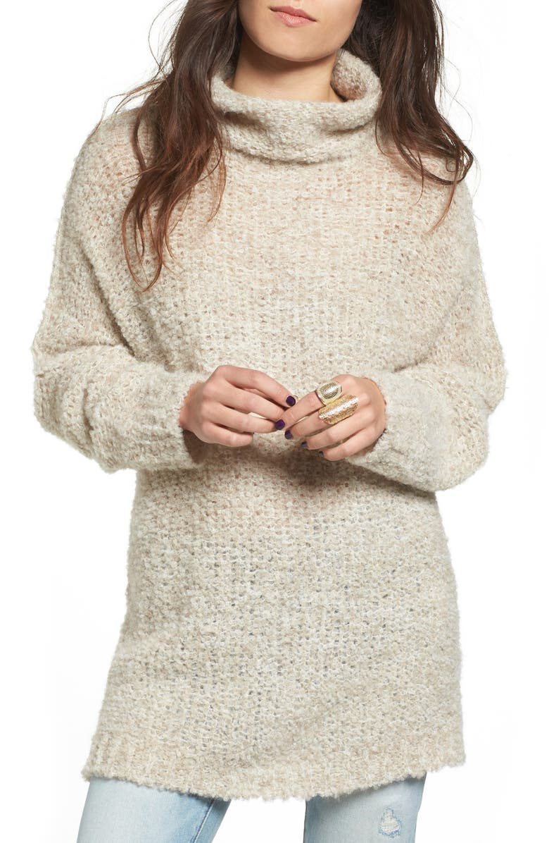 FREE PEOPLE 'She's All That' Knit Turtleneck Sweater, Main, color, 103