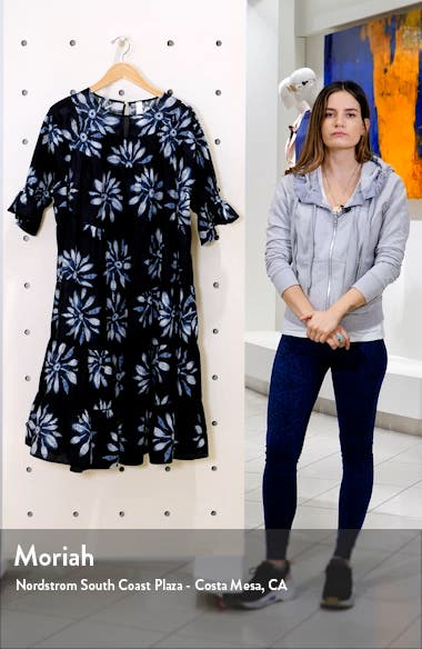 Paradis Tiered Puff Sleeve Cotton Dress, sales video thumbnail