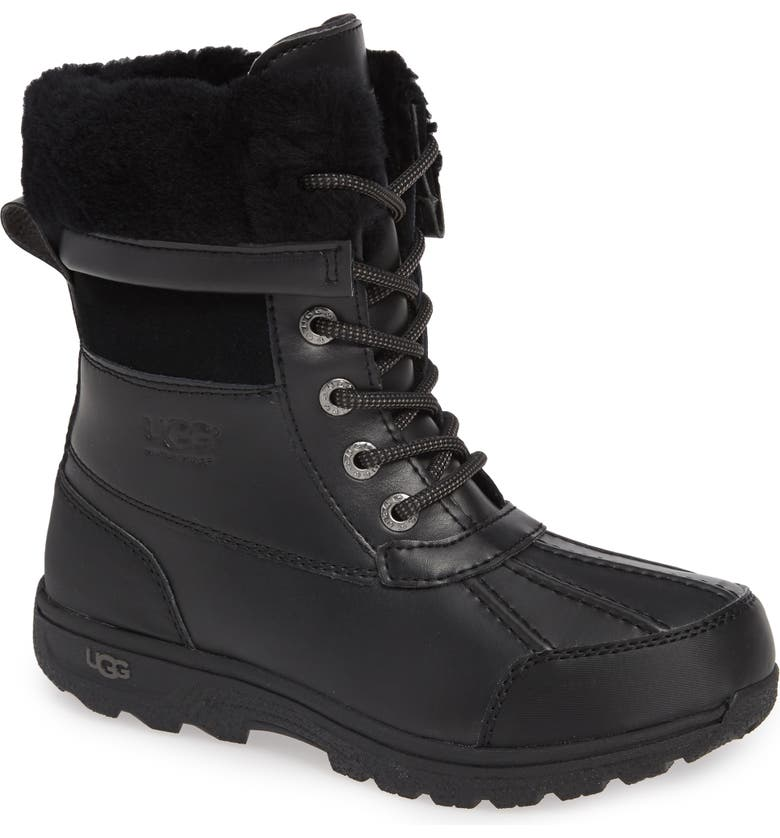 UGG<SUP>®</SUP> Butte II Waterproof Winter Boot, Main, color, BLACK