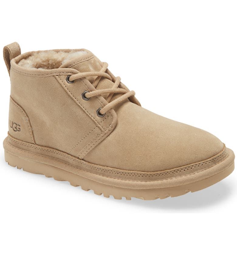 UGG<SUP>®</SUP> Neumel Boot, Main, color, MUSTARD SEED SUEDE