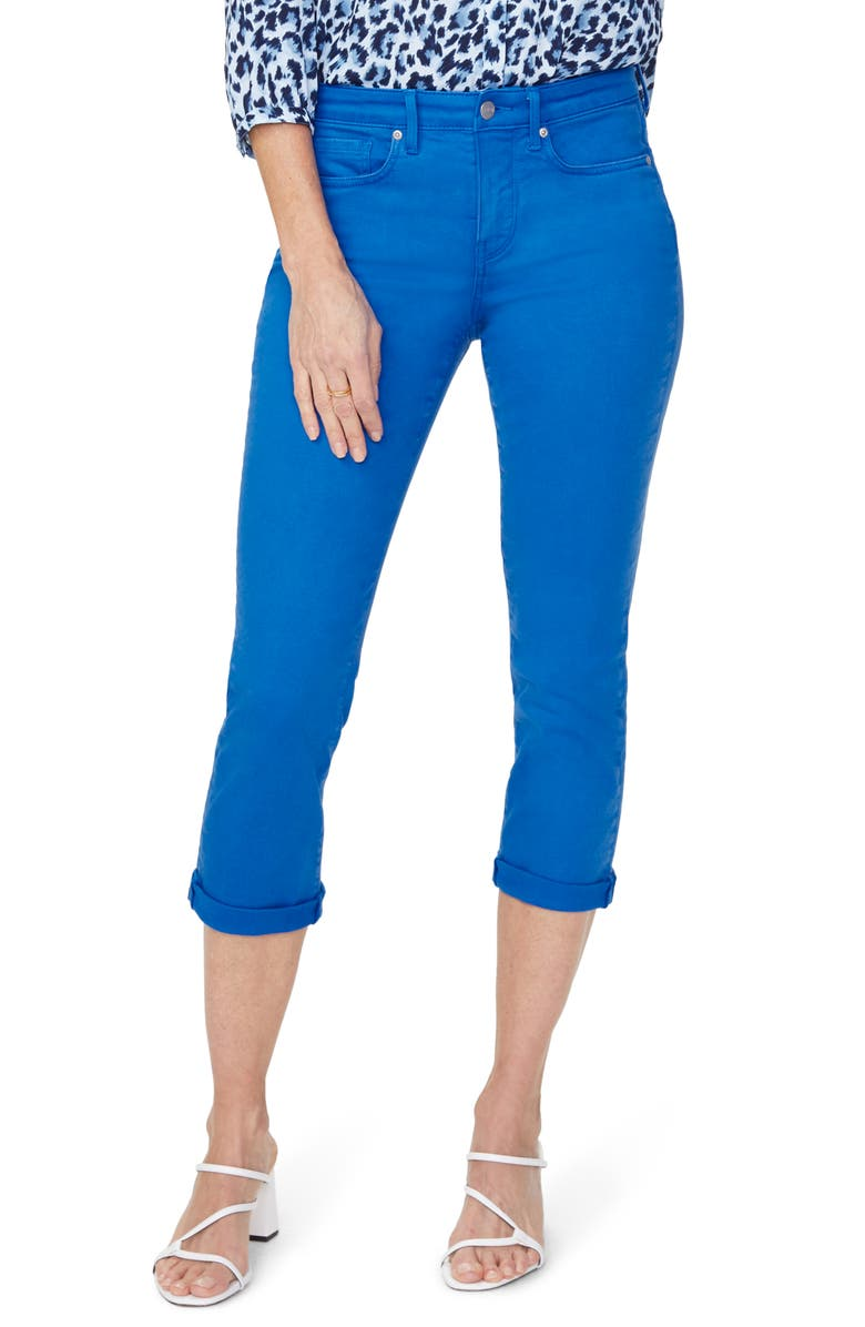 NYDJ Chloe Capri Jeans, Main, color, BLUE HARBOUR