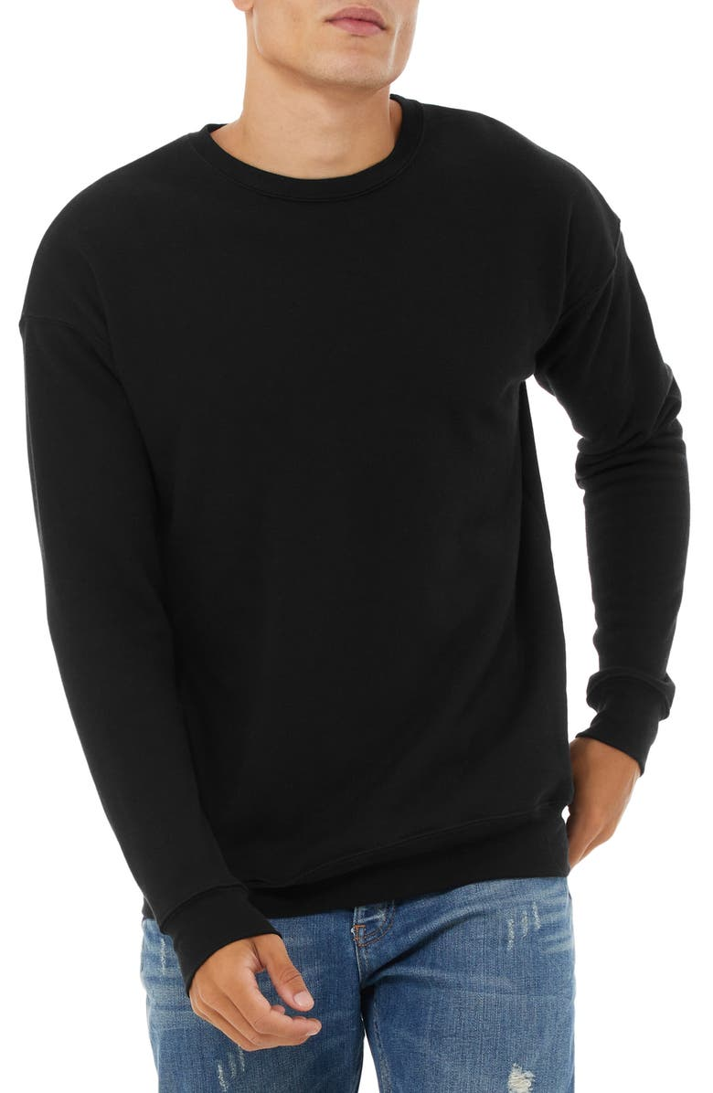 BELLA+CANVAS Crew Sweatshirt, Main, color, Black