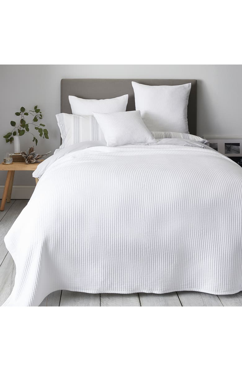 THE WHITE COMPANY Classic Rib Bedspread, Main, color, 100