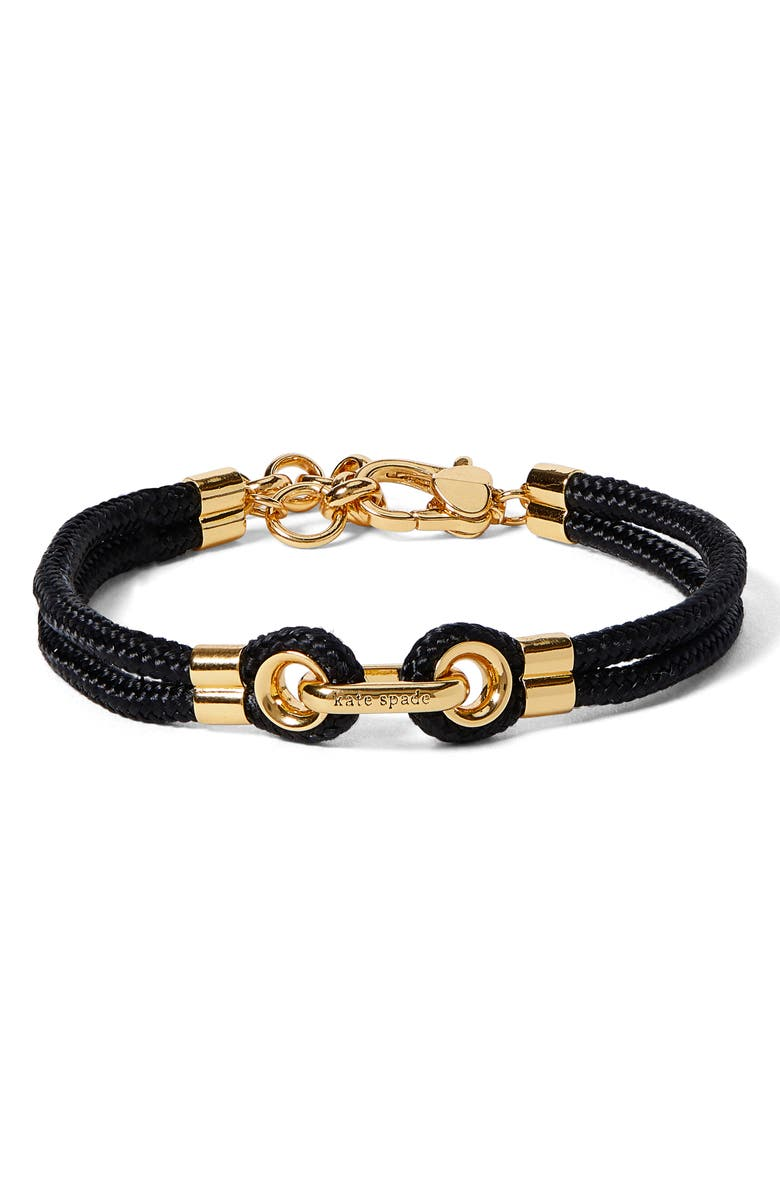 KATE SPADE NEW YORK know the ropes bracelet, Main, color, 001