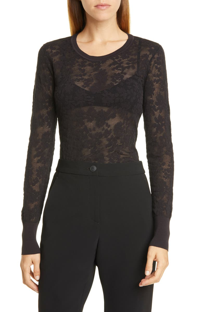 RAG & BONE Perry Floral Jacquard Pullover, Main, color, 001