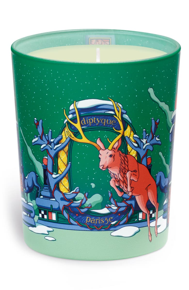 DIPTYQUE Moonlit Fir Scented Candle, Main, color, 000