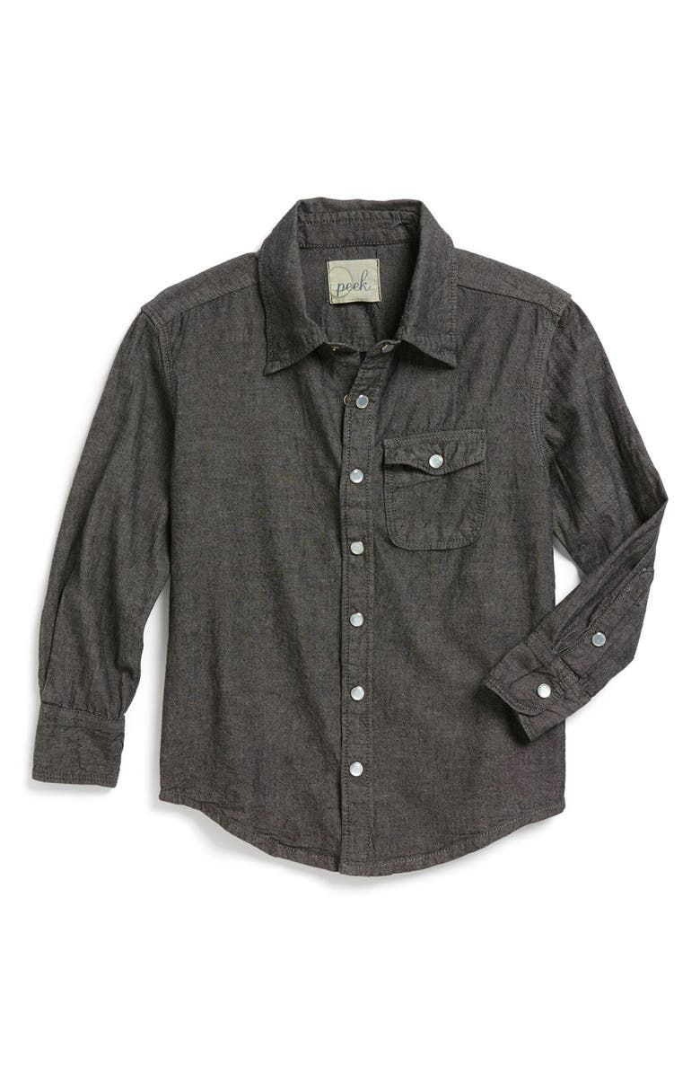 PEEK AREN'T YOU CURIOUS Peek 'Logan' Chambray Woven Shirt, Main, color, 020