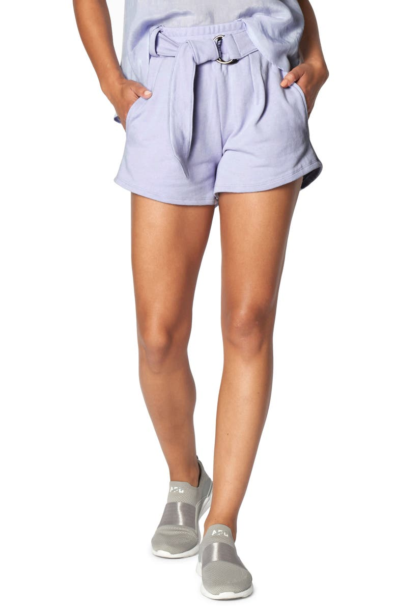 HEROINE SPORT Belted Shorts, Main, color, PERIWINKLE