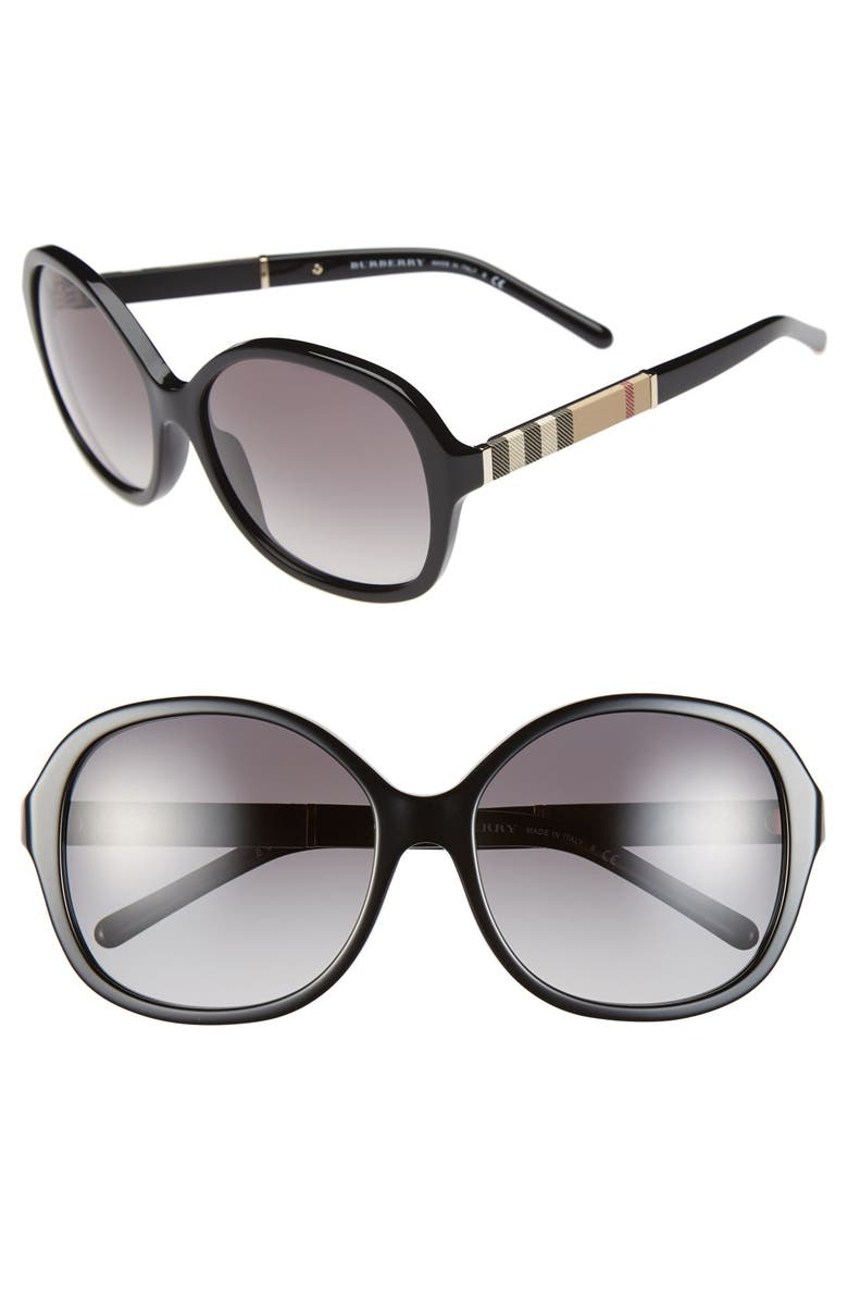 BURBERRY 58mm Sunglasses, Main, color, 001
