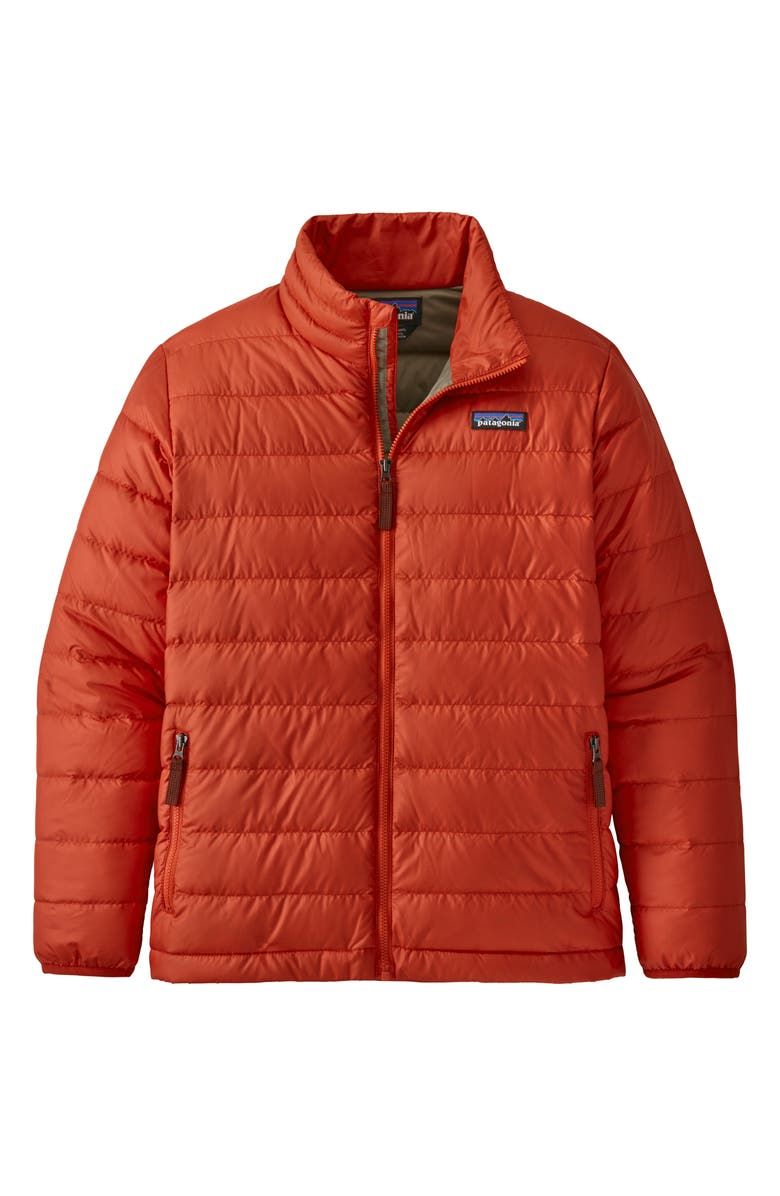 PATAGONIA Recycled 600 Fill Power Down Jacket, Main, color, HOT EMBER-HTE