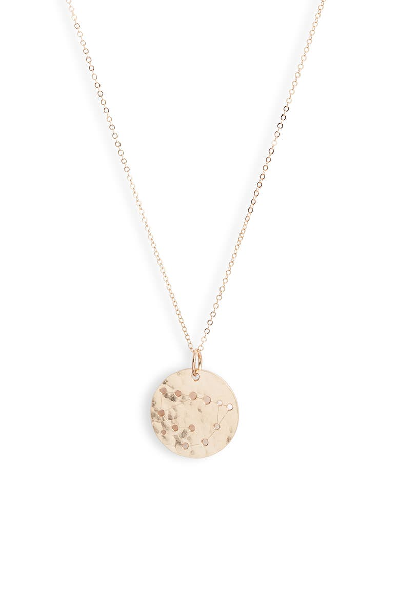 NASHELLE Constellation Pendant Necklace, Main, color, 14K GOLD FILL