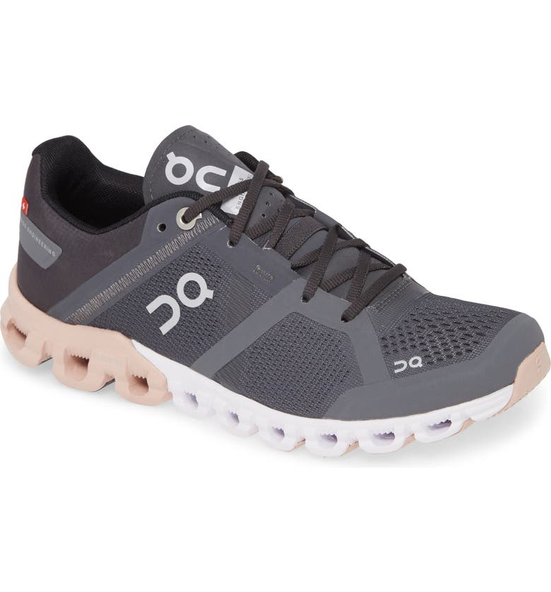 ON Shoes Cloudflow Running Shoe, Main, color, ROCK/ ROSE