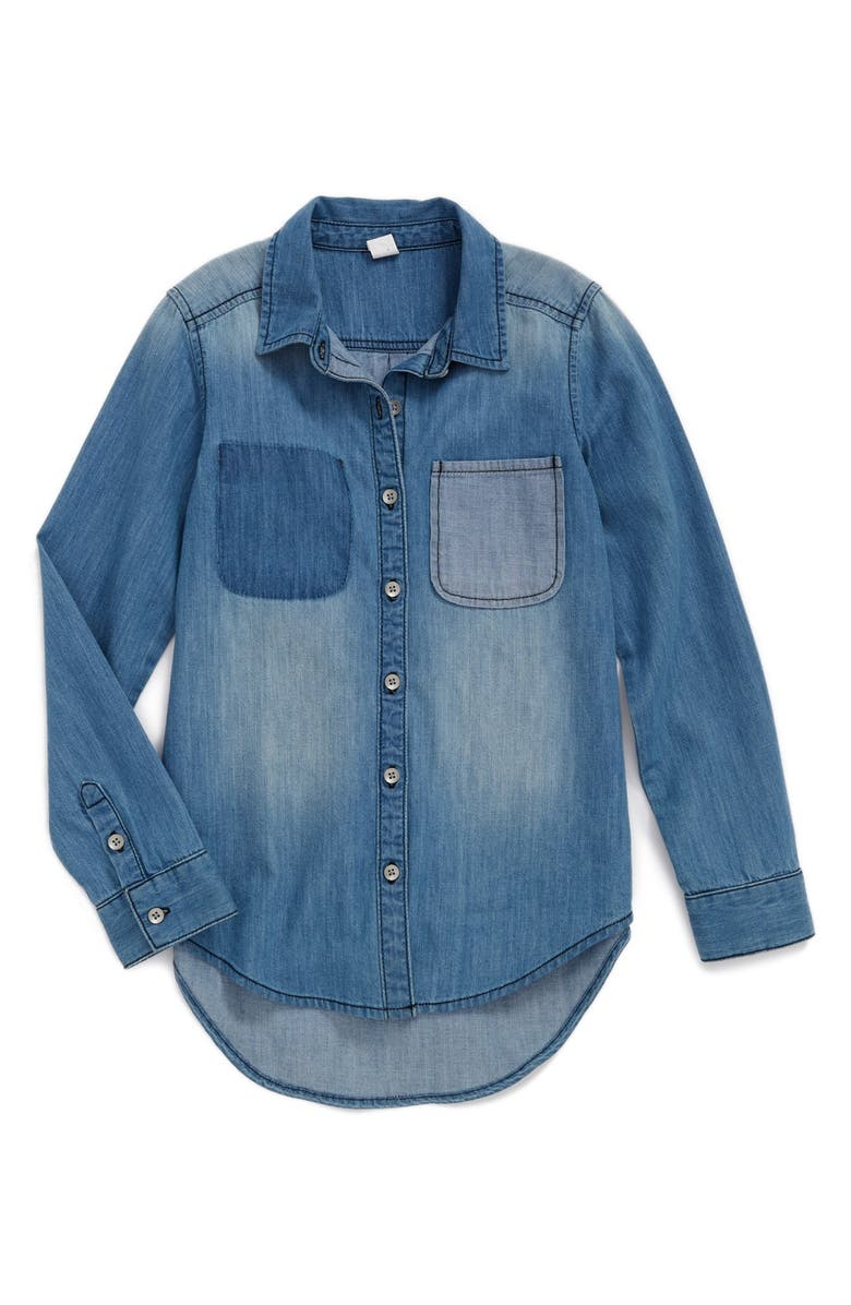TREASURE & BOND Treasure&Bond Denim Shirt, Main, color, 411