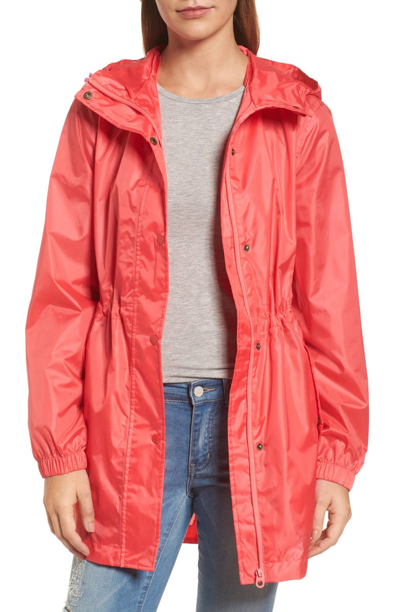 JOULES Right as Rain Packable Hooded Raincoat, Main, color, 672