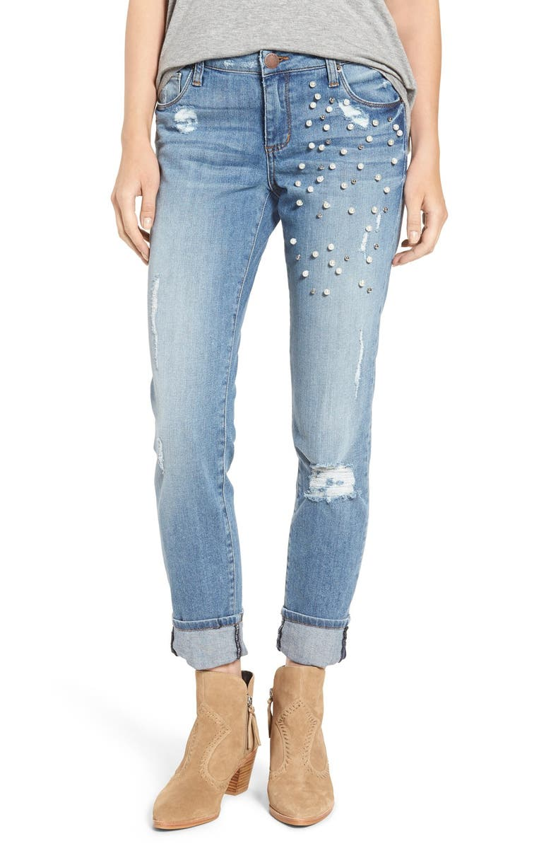 STS BLUE Taylor Tomboy Embellished Jeans, Main, color, PACIFIC HEIGHTS