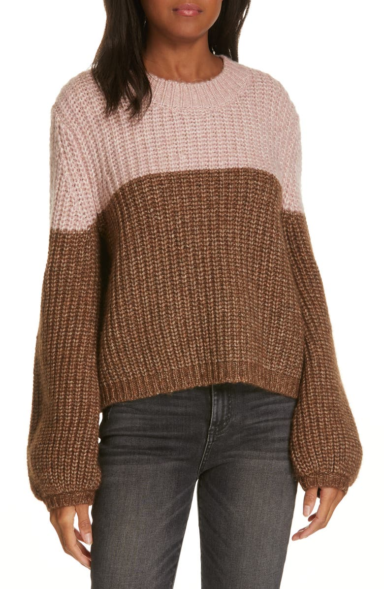 LA LIGNE Two-Tone Sweater, Main, color, 233