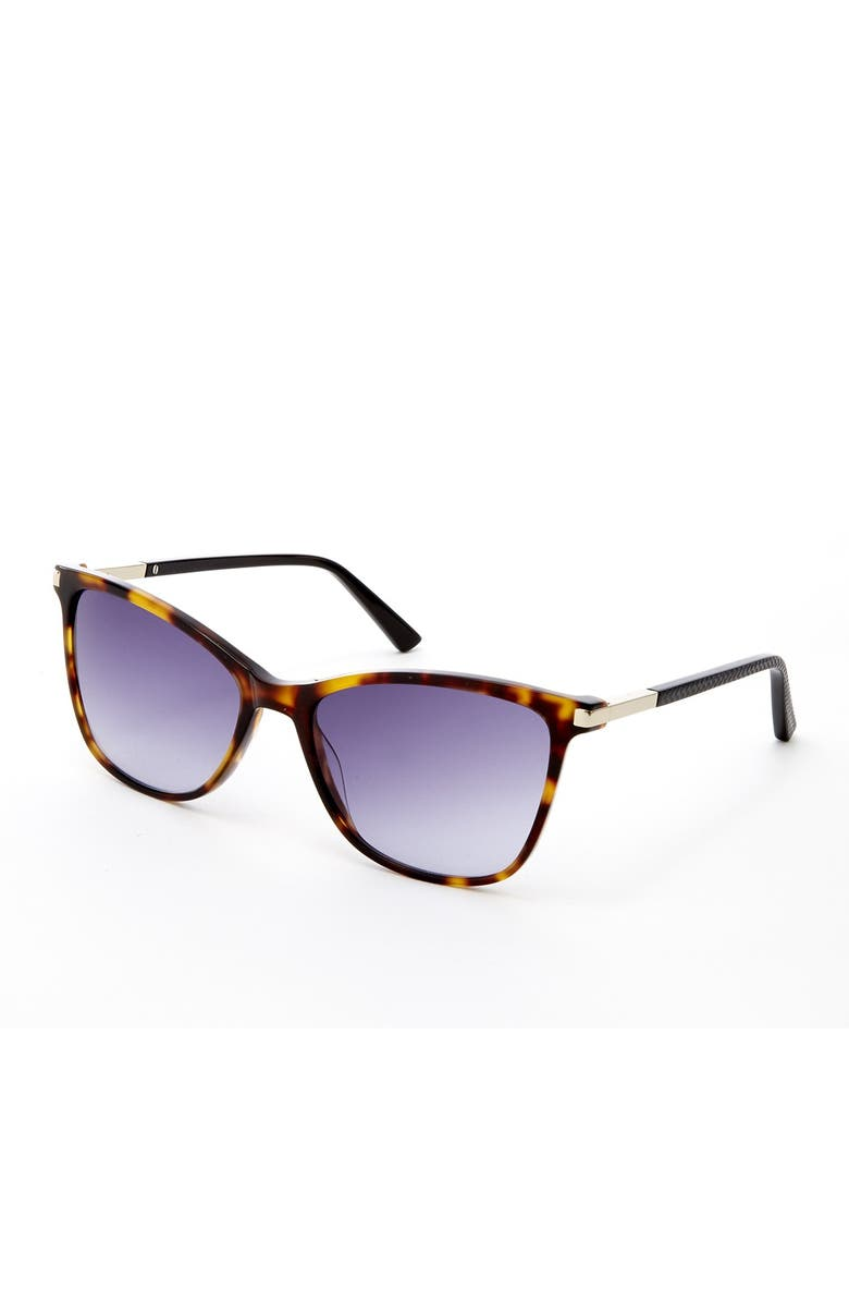 TED BAKER LONDON 56mm Acetate Square Sunglasses, Main, color, TOR