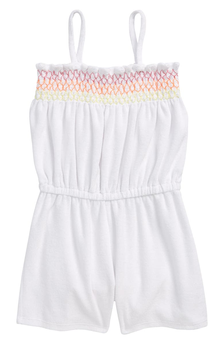 TUCKER + TATE Summer Fun Cover-Up Romper, Main, color, WHITE