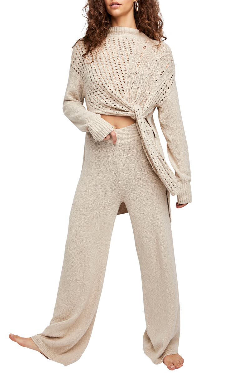 FREE PEOPLE Harper Knit Sweater & Pants, Main, color, 901