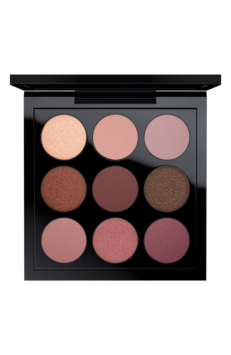 MAC COSMETICS MAC Times Nine Eyeshadow Palette, Main, color, BURGUNDY TIMES NINE