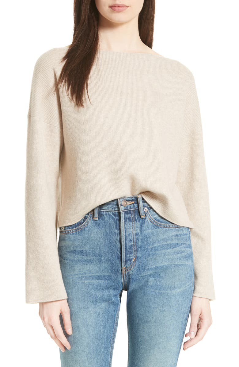 VINCE Boxy Cashmere Sweater, Main, color, LIGHT MARZIPAN