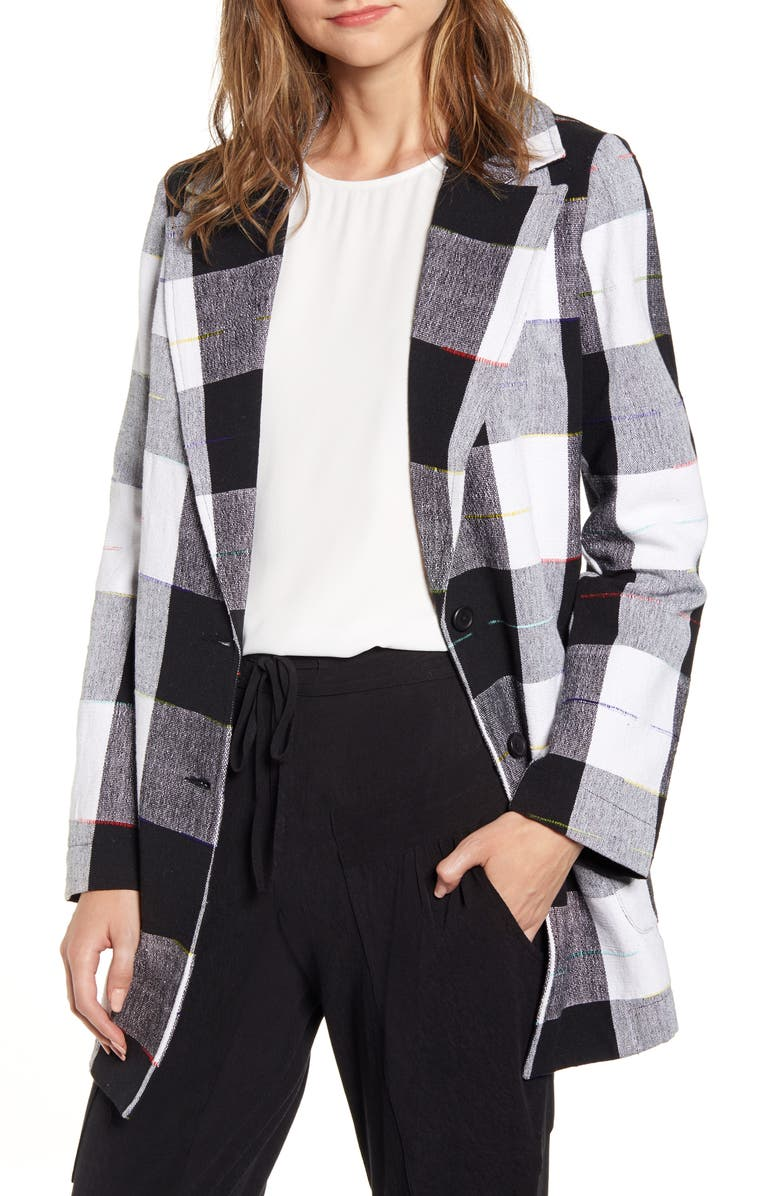 THE ODELLS Artist Buffalo Plaid Cotton Coat, Main, color, 001