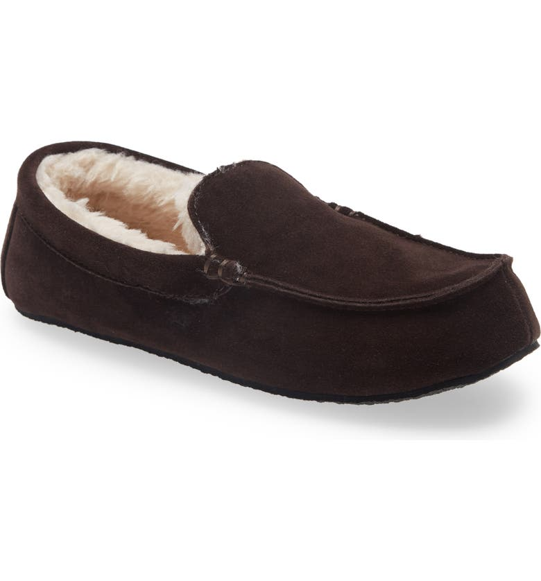 NORDSTROM Mateo Slipper, Main, color, CHOCOLATE SUEDE