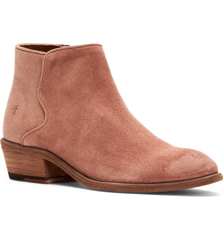 FRYE Carson Western Bootie, Main, color, LIGHT ROSE SUEDE