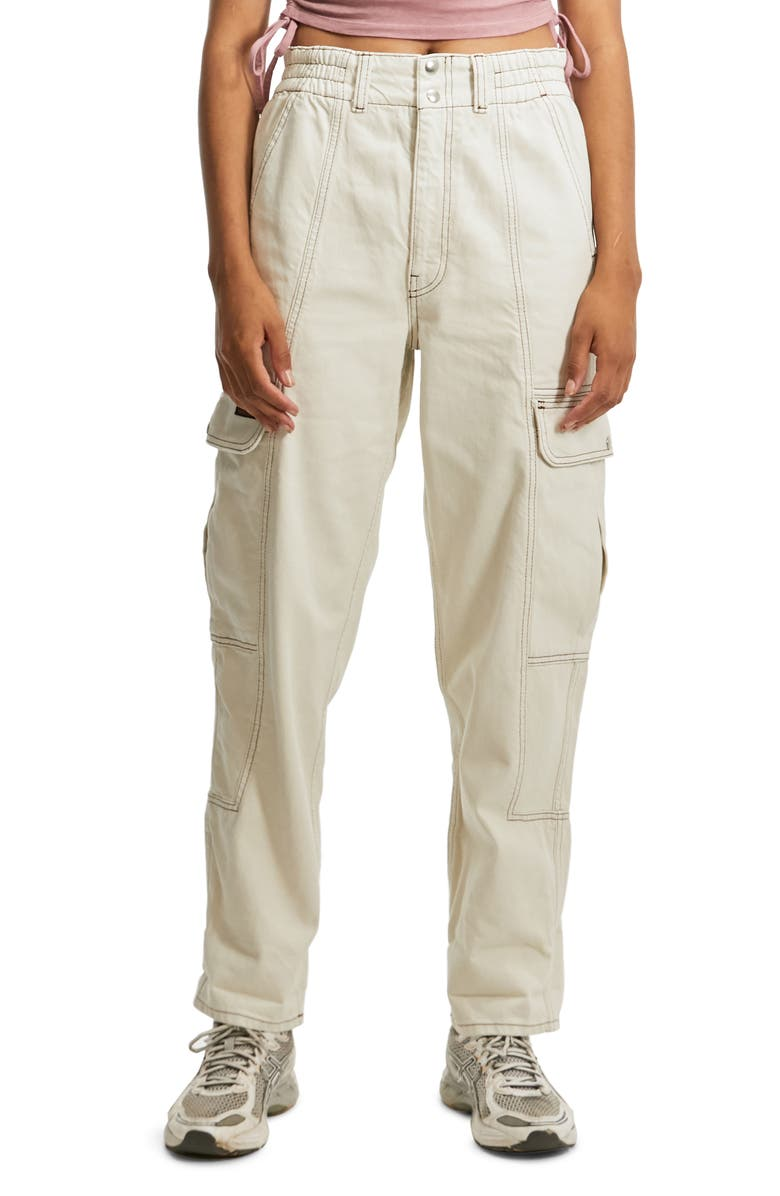 BDG URBAN OUTFITTERS Blaine Cargo Jeans, Main, color, ECRU/ WHITE