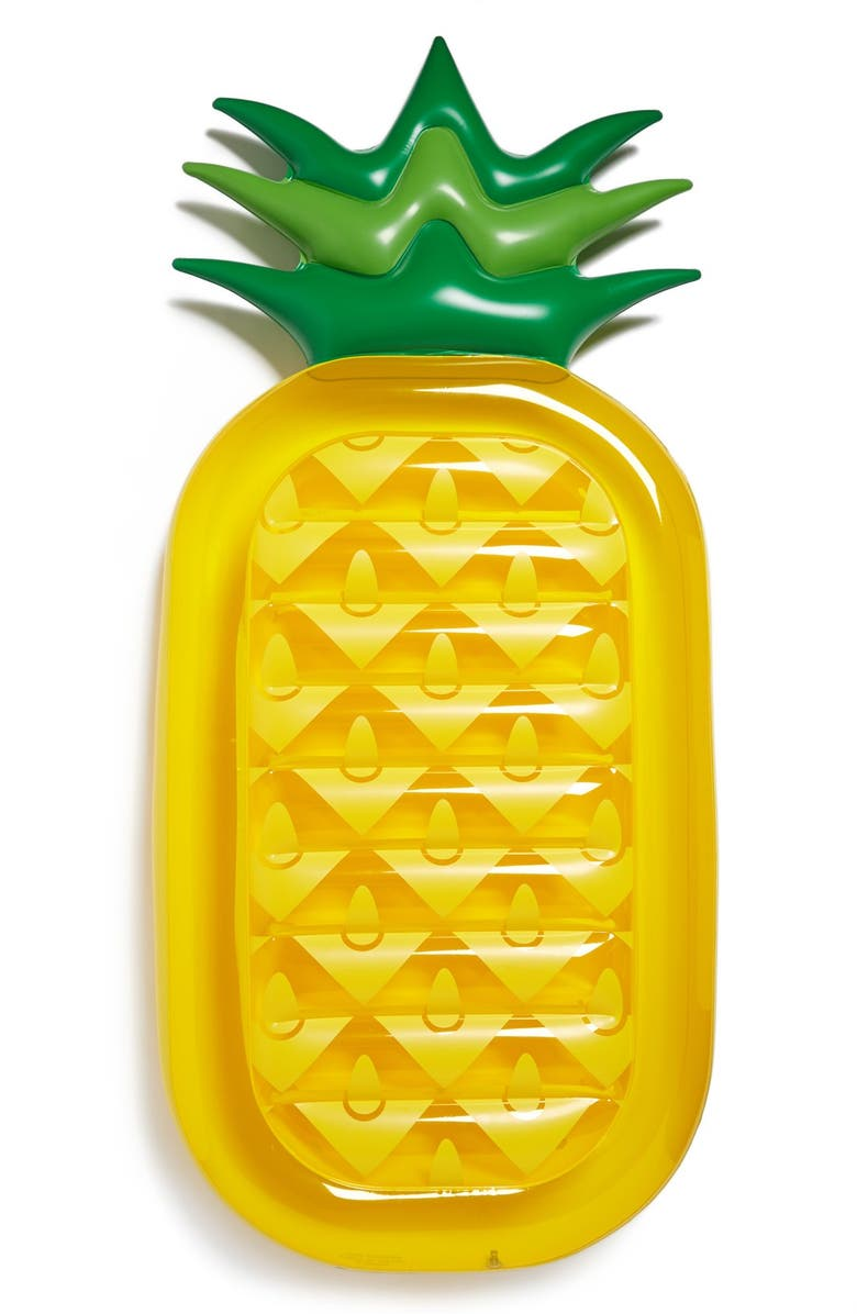 SUNNYLIFE 'Really Big' Inflatable Pineapple Pool Floatie, Main, color, 700