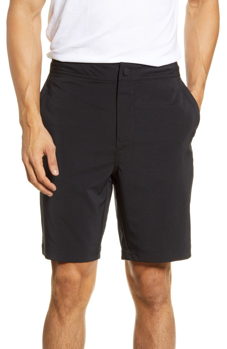 ZELLA Hybrid Tech Shorts, Main, color, BLACK
