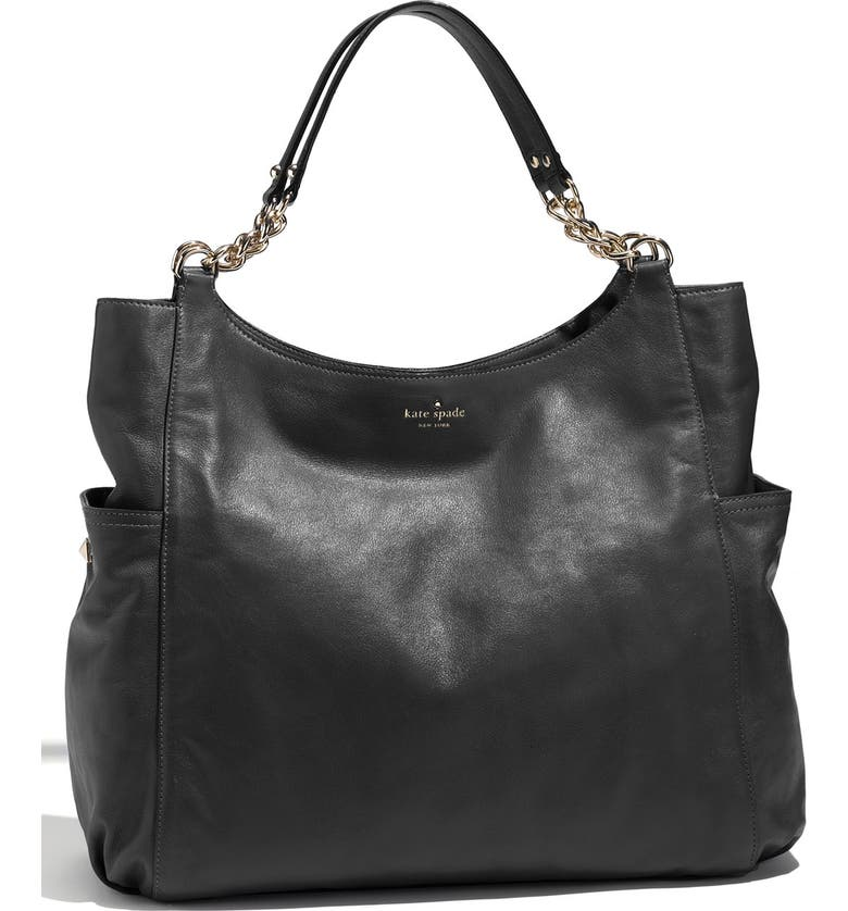 KATE SPADE NEW YORK 'litchfield joelle' leather tote, Main, color, Black