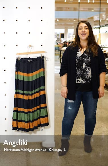 Avelina Stripe Skirt, sales video thumbnail