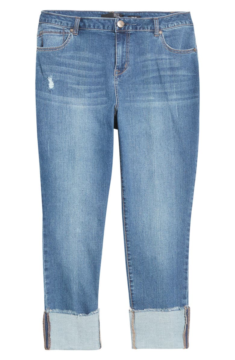 1822 DENIM Deep Roll Cuff Jeans, Main, color, JEREMY