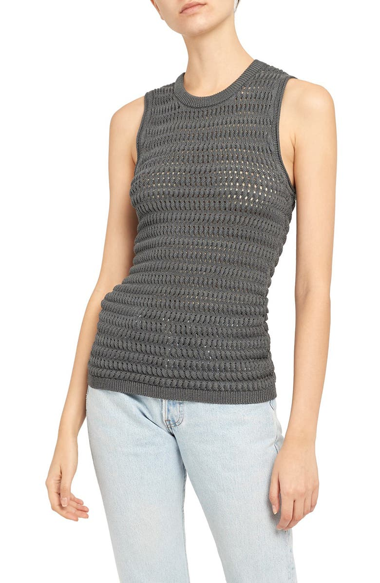 THEORY Textured Tank, Main, color, 021