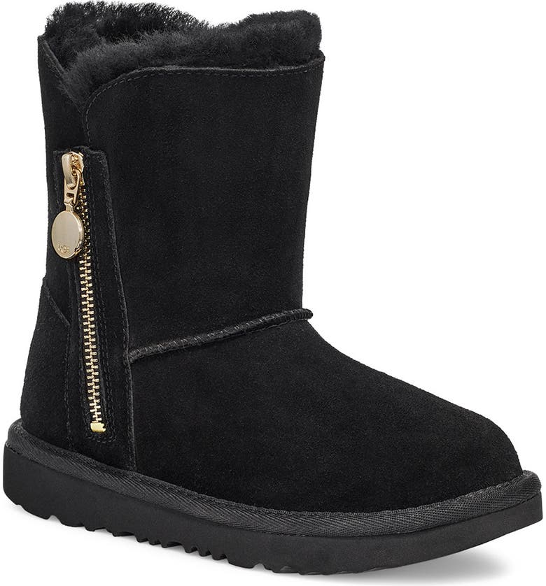 UGG<SUP>®</SUP> Bailey Genuine Shearling Lined Boot, Main, color, BLACK