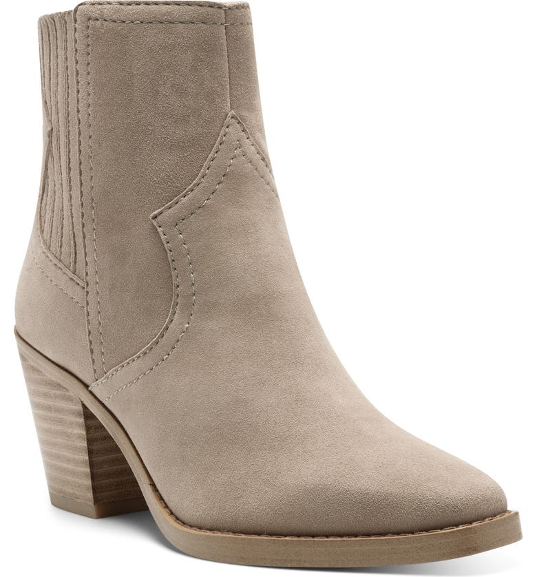 LUCKY BRAND Jaide Western Bootie, Main, color, CLAY SUEDE