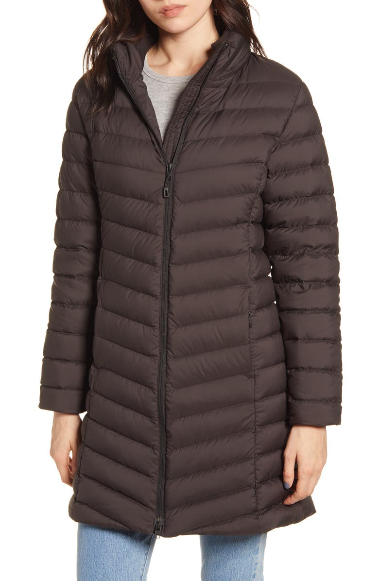 PATAGONIA Silent 700 Fill Power Down Hooded Jacket, Main, color, Black