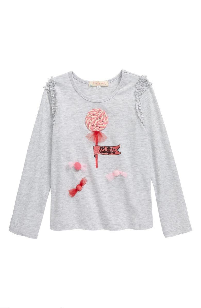 TRULY ME Candy Embellished Long Sleeve Graphic Tee, Main, color, 020