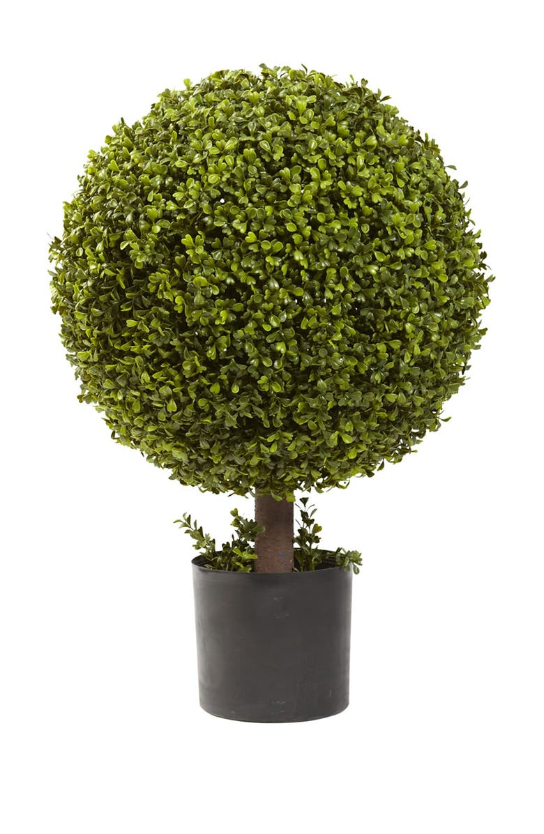 NEARLY NATURAL 27in. Boxwood Ball Topiary, Main, color, GREEN