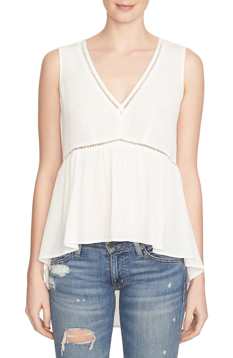 1.STATE High/Low Crepe Top, Main, color, CLOUD