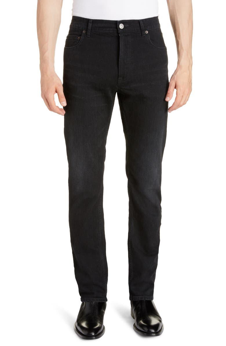 BALENCIAGA Skinny Jeans, Main, color, WASHED BLACK