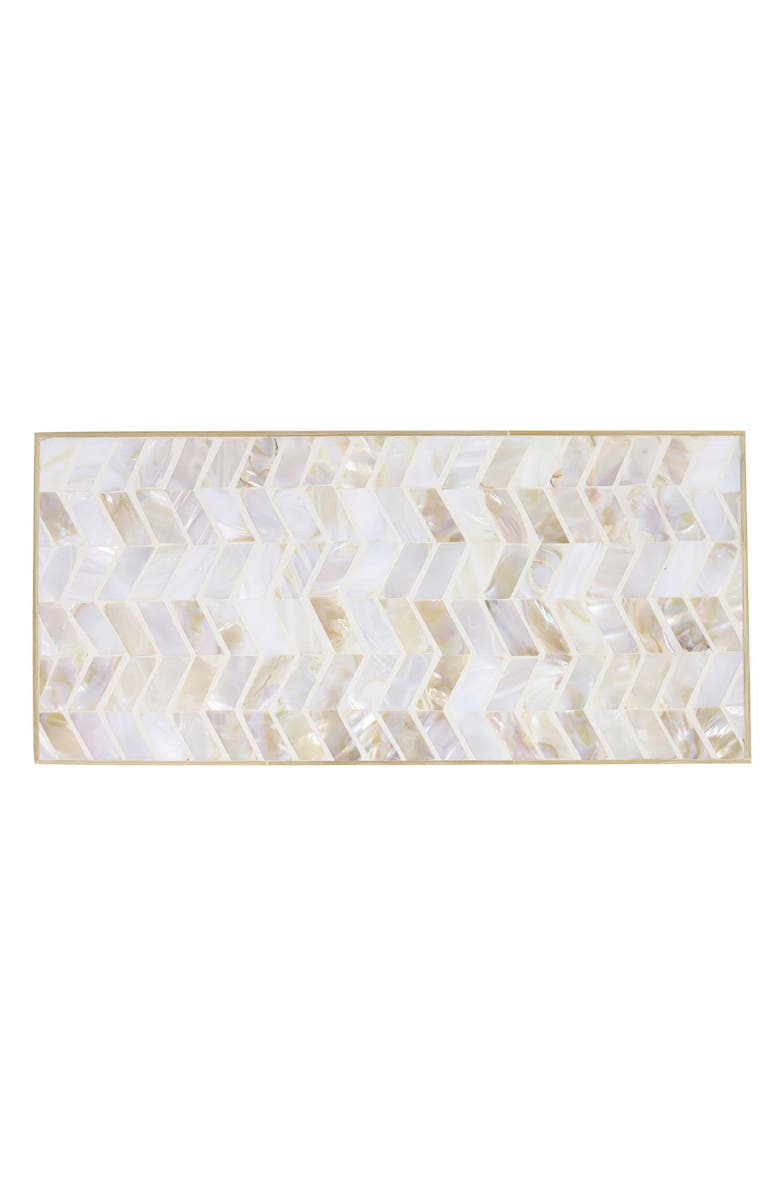 BE HOME Mosaic Mother of Pearl Serving Board, Main, color, PEARL