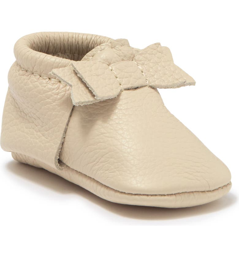 FRESHLY PICKED The First Pair Leather Moccasin, Main, color, CREAM