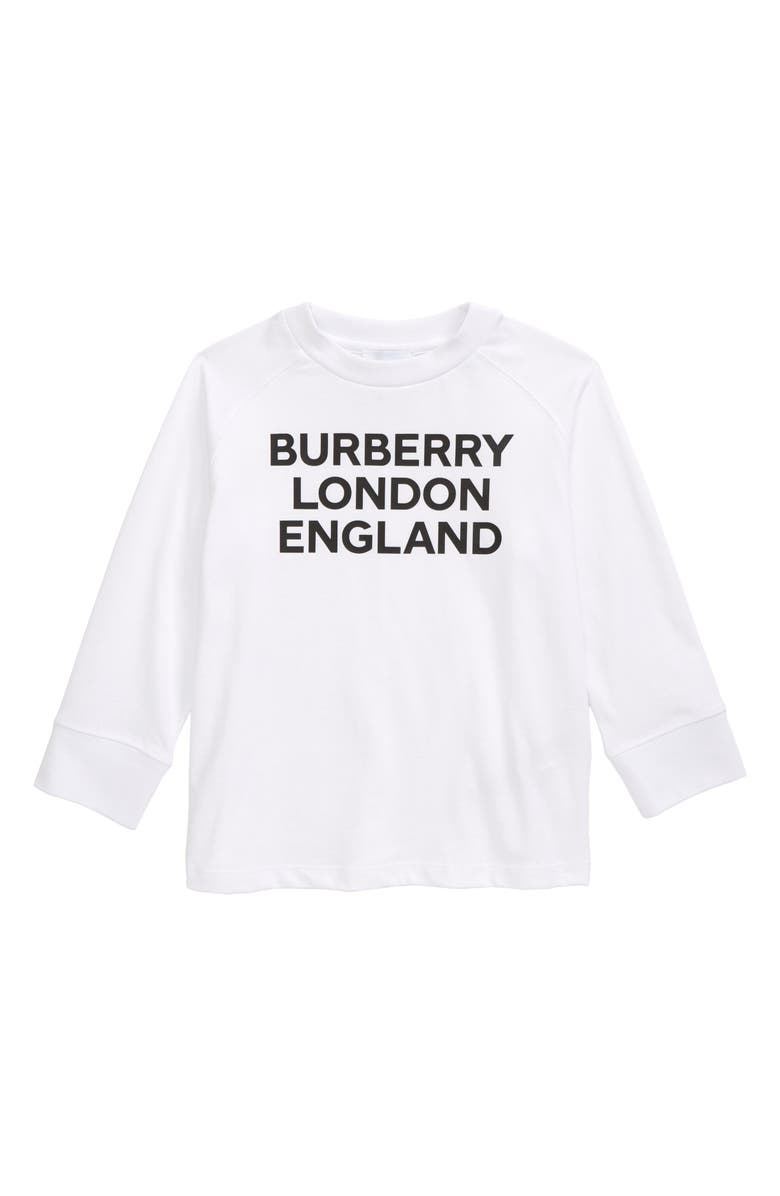 BURBERRY Kids' Logo Graphic Tee, Main, color, White