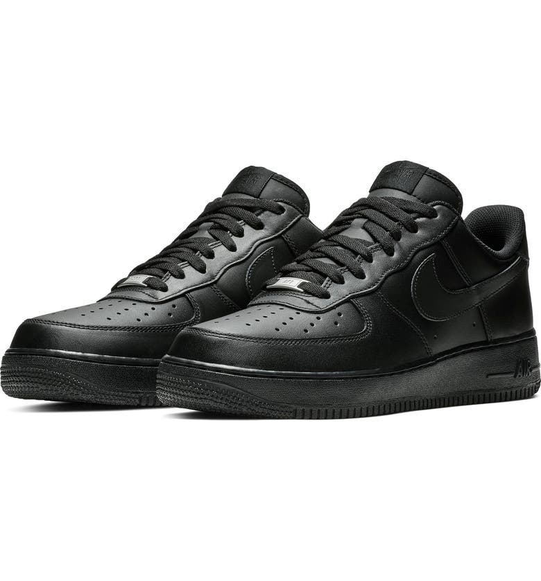 NIKE Air Force 1 '07 Sneaker, Main, color, BLACK