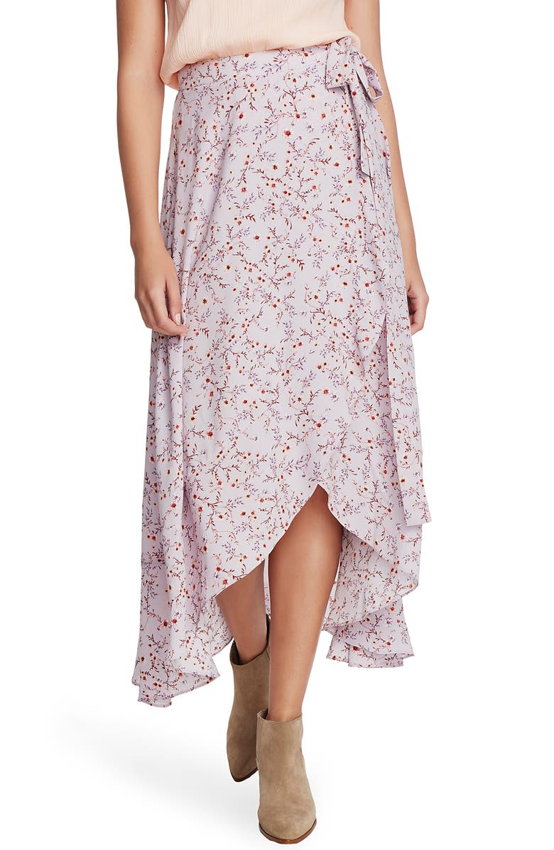 1.STATE Wildflower Vines Wrap Skirt, Main, color, 555