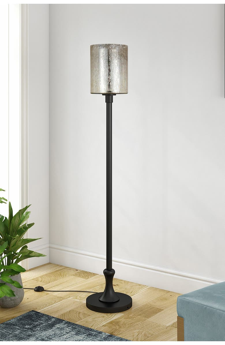 ADDISON AND LANE Numit Floor Lamp with Mercury Glass, Main, color, BLACK
