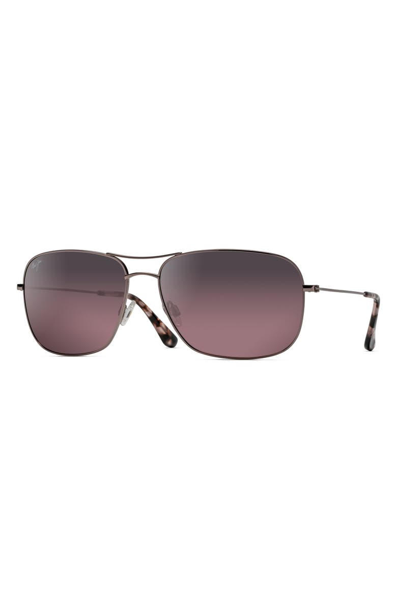 MAUI JIM Breezeway 63mm PolarizedPlus2<sup>®</sup> Sunglasses, Main, color, ROSE GOLD