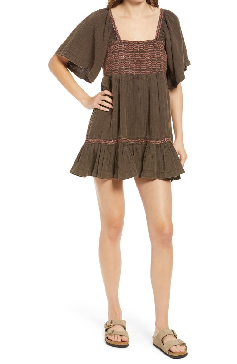 FREE PEOPLE Easy to Love Minidress, Main, color, ESPRESSO BEANS